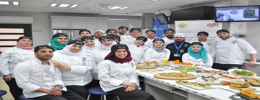 تدريب في فن الطهي لمجموعة من الشباب المقدسي